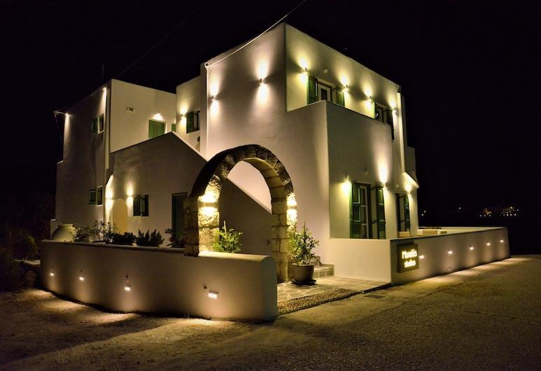 Moraitis Studios Dioni Lux Inn, Milos, Hotel Front – Evening/Night