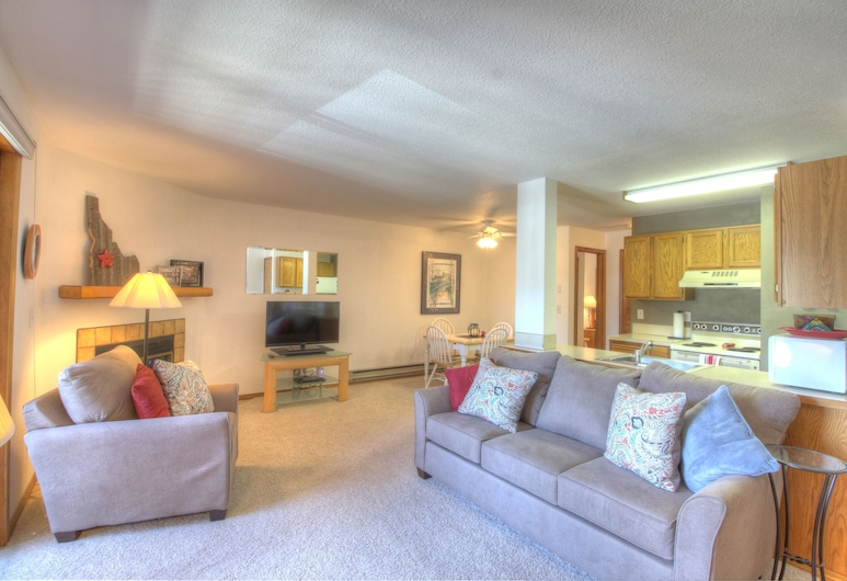 Clean Comfortable Condo Close TO Downtown AND Payette Lake, McCall, Living Room