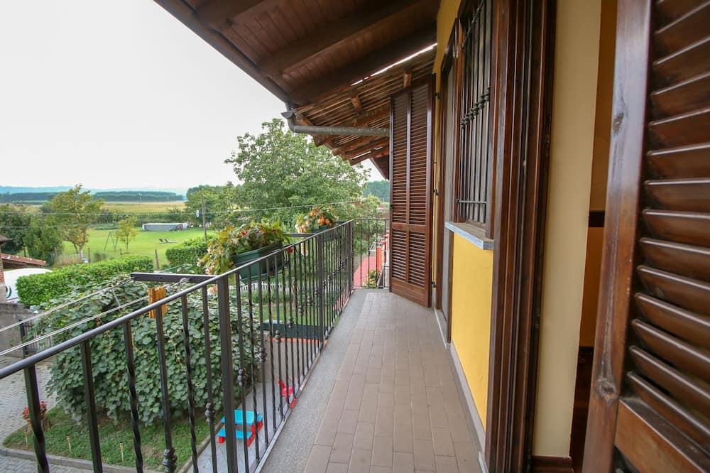 Honeymoon tweepersoonskamer, 1 kingsize bed, privébadkamer, uitzicht op meer (Spiga) - Balkon