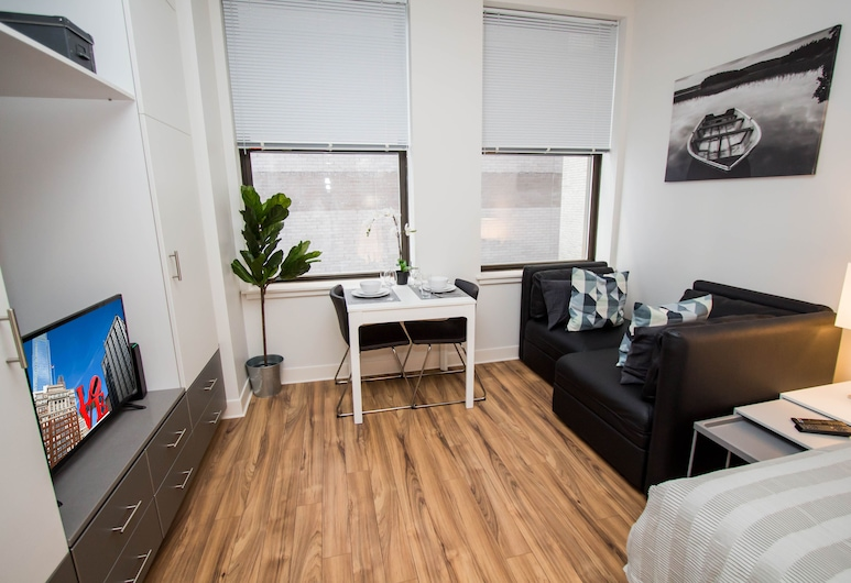 NUOVO - Center City Philadelphia, Philadelphia, Studio Suite, Living Room