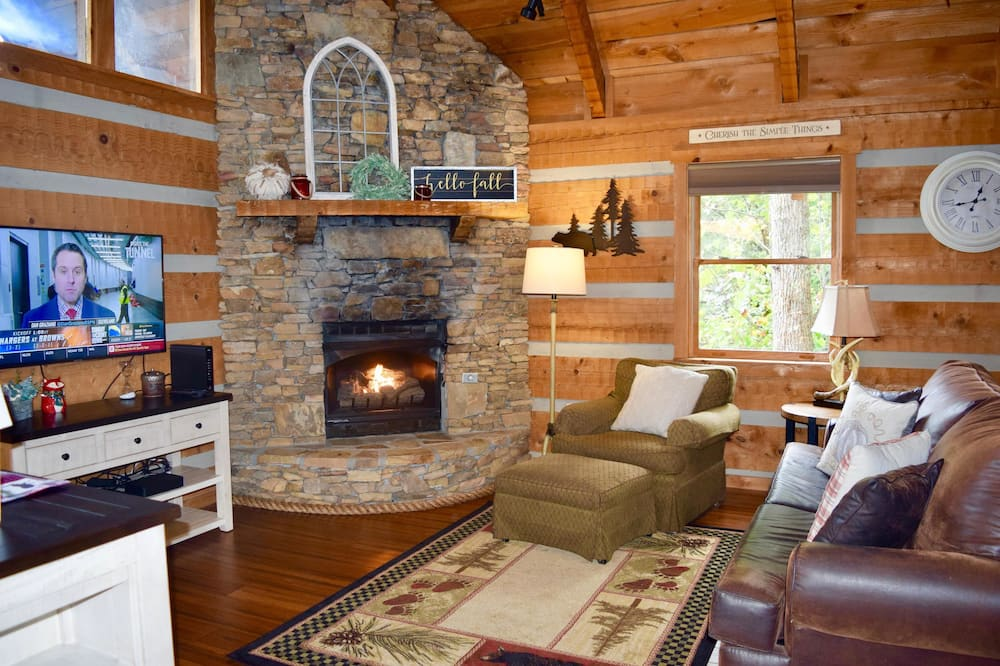 Cabin, 1 King Bed (A View for Two) - Living Area
