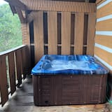 Cabin, 1 King Bed (A View for Two) - Outdoor Spa Tub