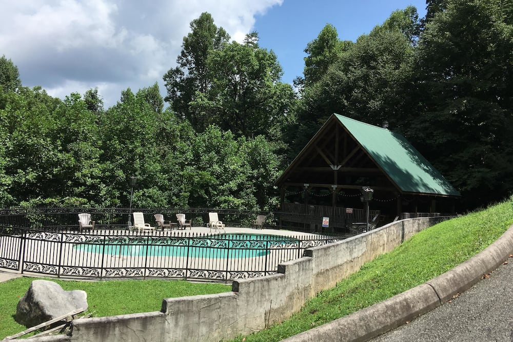 Hytte - 1 kingsize-seng (Honeymoon Sweet) - Udendørs pool