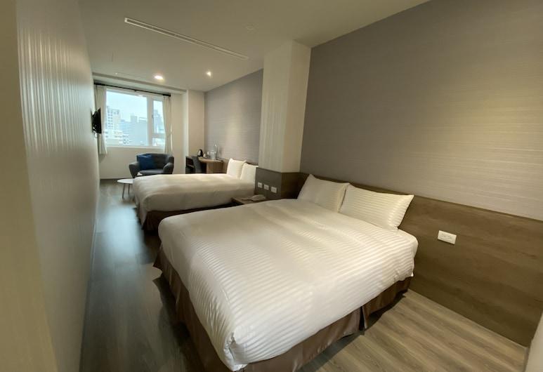 Hotel Brown - Zhongzheng, Tainan, Classic - neljän hengen huone, 2 parisänkyä, Tupakointi kielletty, Vierashuone