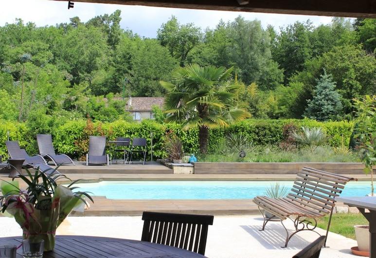 La Maison de la Pimpine, Lignan-de-Bordeaux, Открытый бассейн