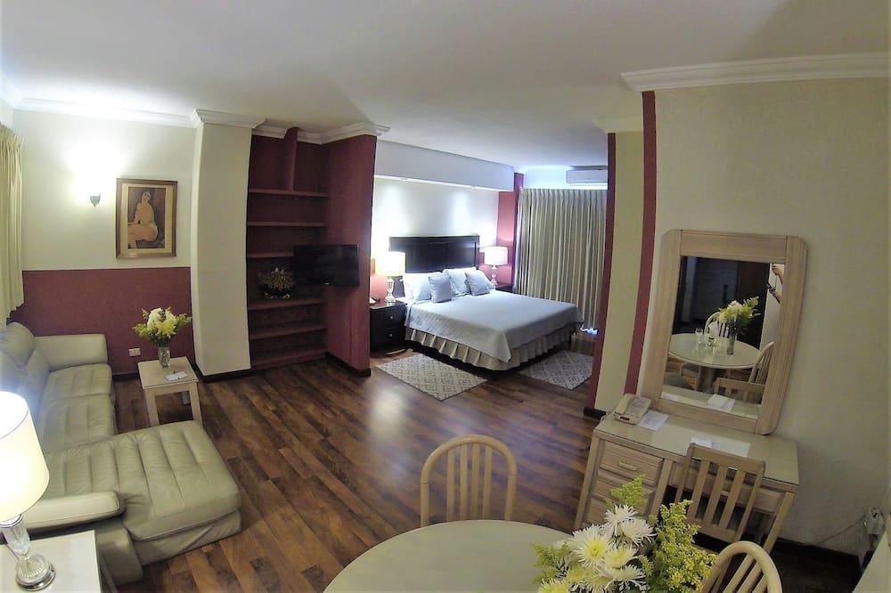 Apartamentai, 1 labai didelė dvigulė lova, Nerūkantiesiems - Svetainės zona