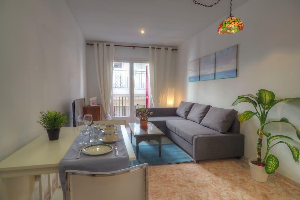 Căn hộ, 1 phòng ngủ, Quang cảnh biển - Khu phòng khách
