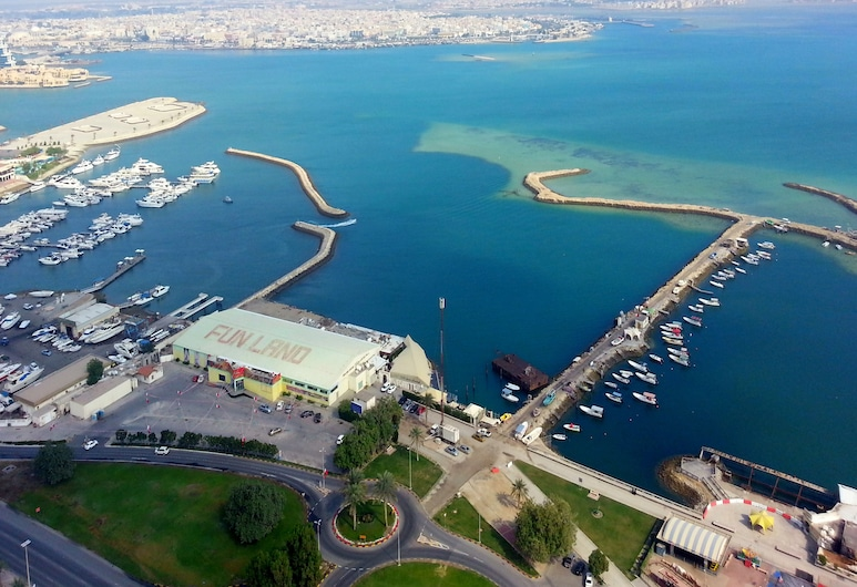 Harbour Suites Hotel from Holiday Gulf Hotel, Manama, Property Grounds
