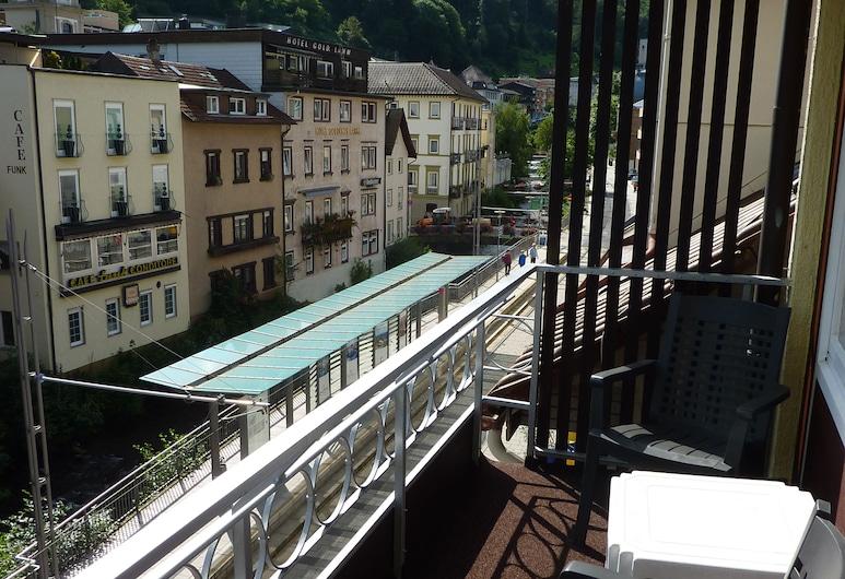 Hotel Traube, Bad Vildbadas, Dvivietis kambarys, balkonas, vaizdas į kiemą, Balkonas