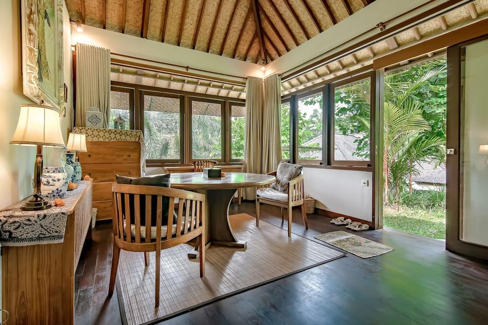 Villa, 3 habitaciones, piscina privada, vista al valle - Sala de estar