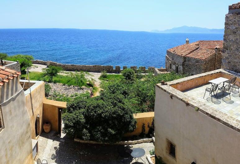 Goulas Traditional Guesthouse, Monemvasia, Standardna dvokrevetna soba, pogled na more, Pogled iz sobe za goste