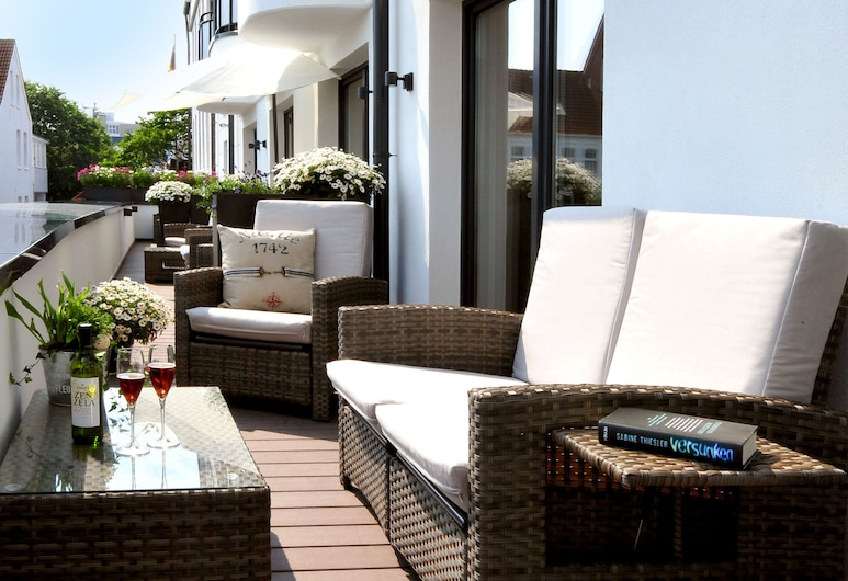 Passepartout Norderney, Norderney, Apart Daire, Teras (incl. 50€ cleaning fee), Balkon