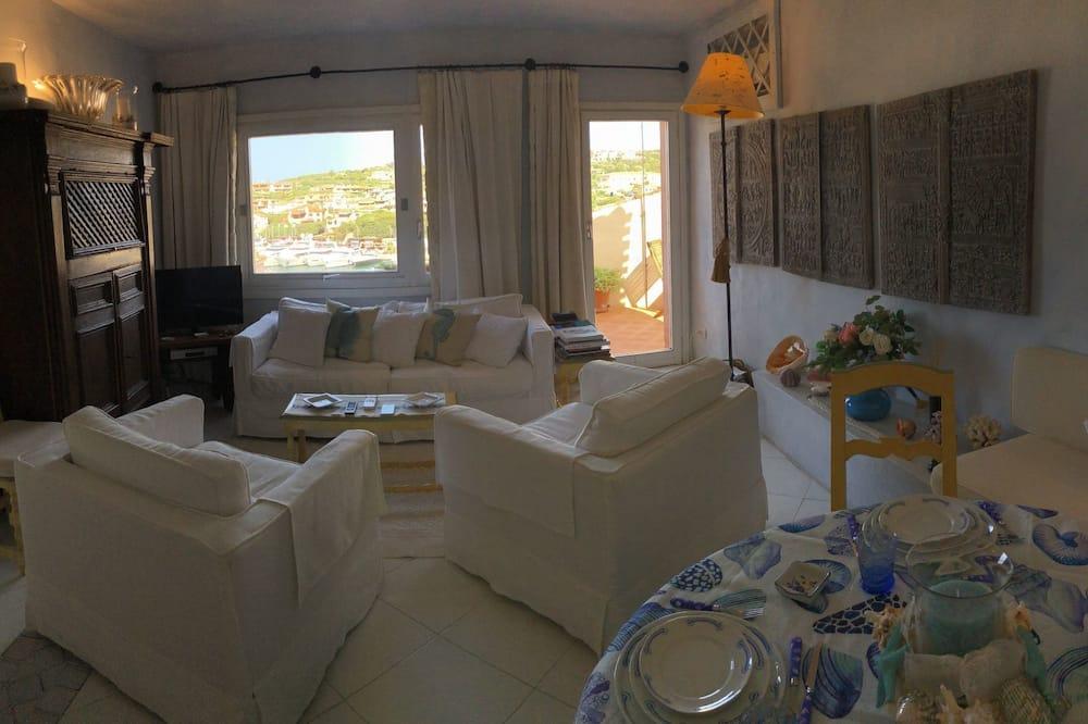 Apartamentai, 1 miegamasis, vaizdas į jūrą - Svetainės zona