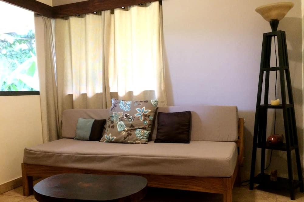 Standardværelse - 1 kingsize-seng (# 3 Sitting Room & Porch) - Opholdsområde
