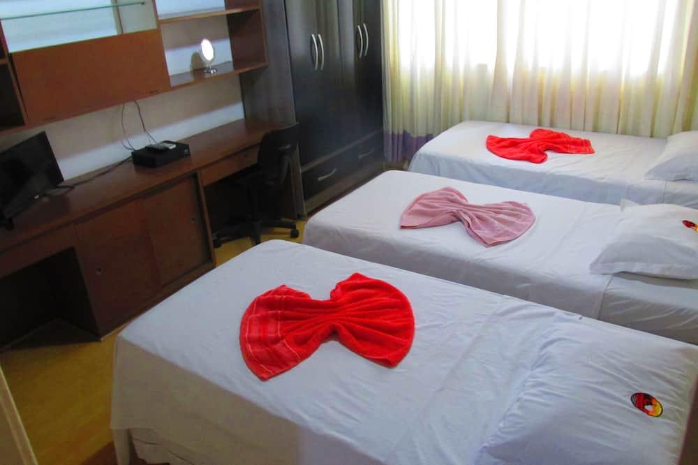 غرفة ثلاثية - 3 أسرّة فردية منفصلة (Chorinho) - غرفة نزلاء
