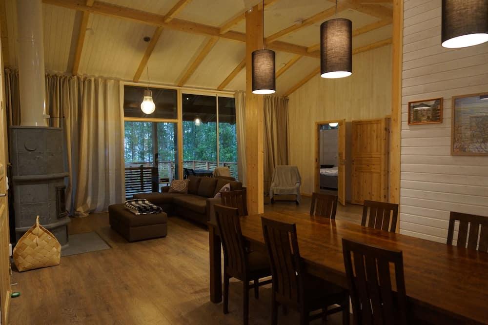 Domek typu Exclusive, 3 ložnice, sauna - Obývací prostor
