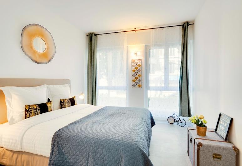 Europea Latin Loft Residence, Paryż, Apartament typu Deluxe, 2 sypialnie, Pokój