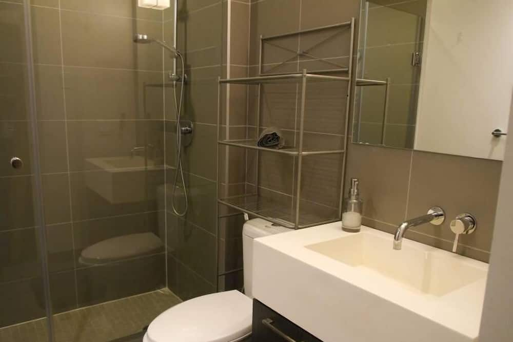 Basic apartman, 1 queen (nagyméretű) franciaágy, nemdohányzó - Fürdőszoba