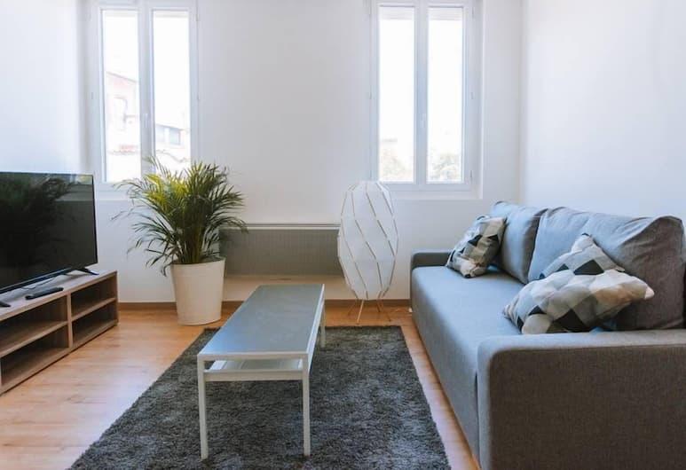 VieBuilding3, Tulūza, Apartamentai su pagrindiniais patogumais, Svetainė