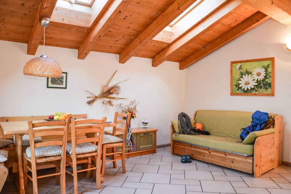 公寓, 2 間臥室 (3-6 Pax Margherita) - 客廳