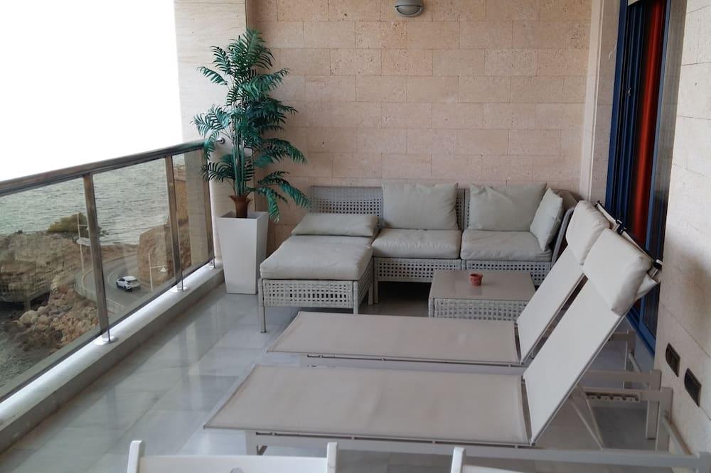 Apartman, 2 spavaće sobe, pogled na more - Balkon