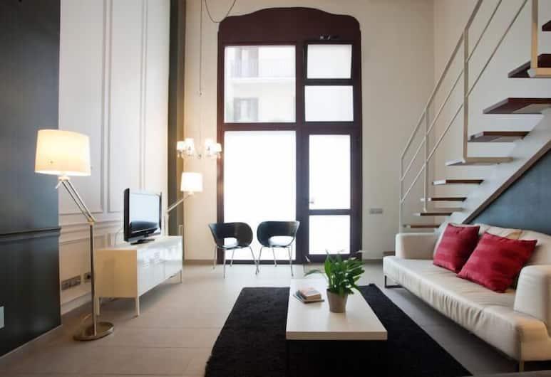 Paralel Duplex, Barcelona, Duplex - 2 sovrum - 2 badrum, Vardagsrum