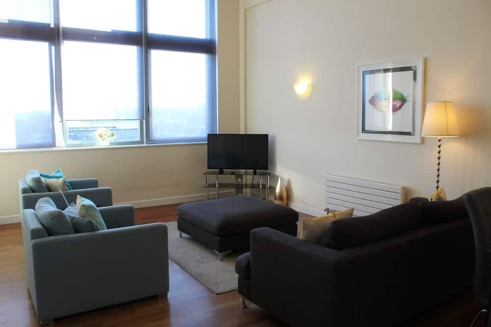 Appartamento City, 2 letti matrimoniali - Area soggiorno
