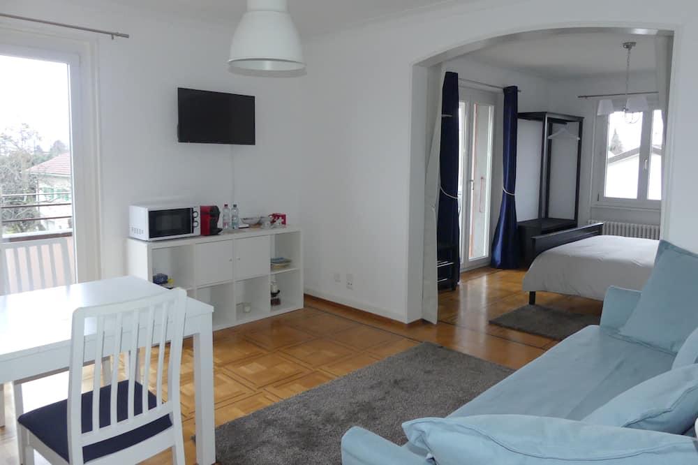 Komforta dzīvokļnumurs, vairākas gultas, nesmēķētājiem, skats uz kalniem - Dzīvojamā zona