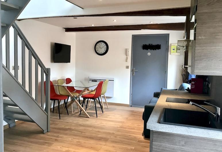 Appart hotel Le Madame, Lille, Apartmán, nefajčiarska izba (Catherine), Obývacie priestory