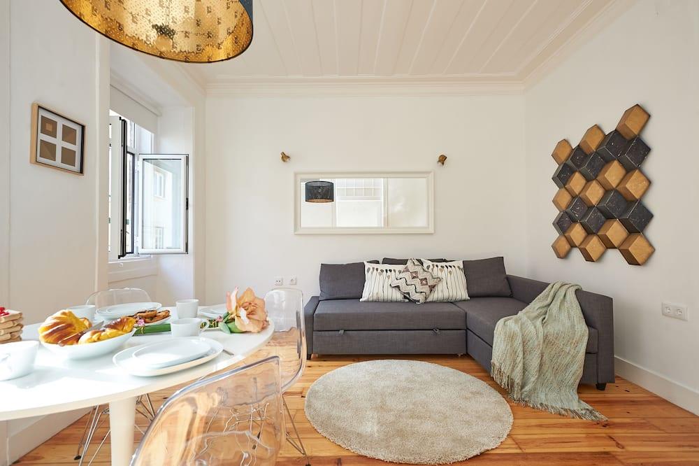 Appartement Deluxe, 2 chambres, vue ville - Salle de séjour