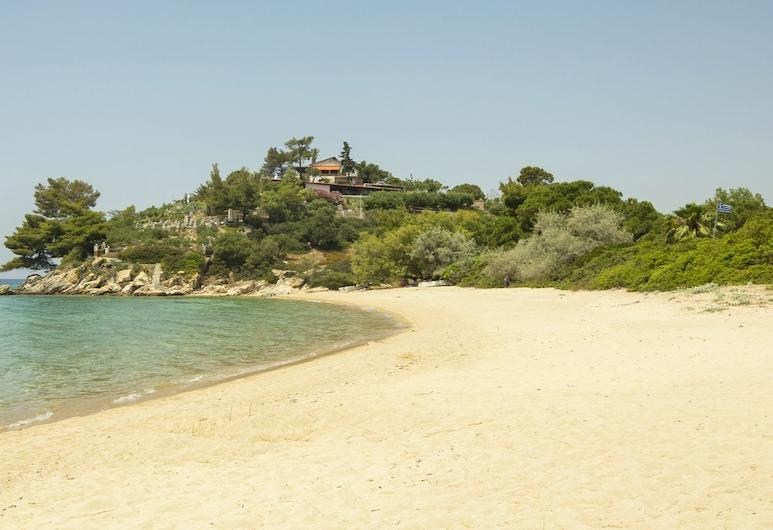 Greenlea Beachfront Villa Spathies, Sitonia, Plaża
