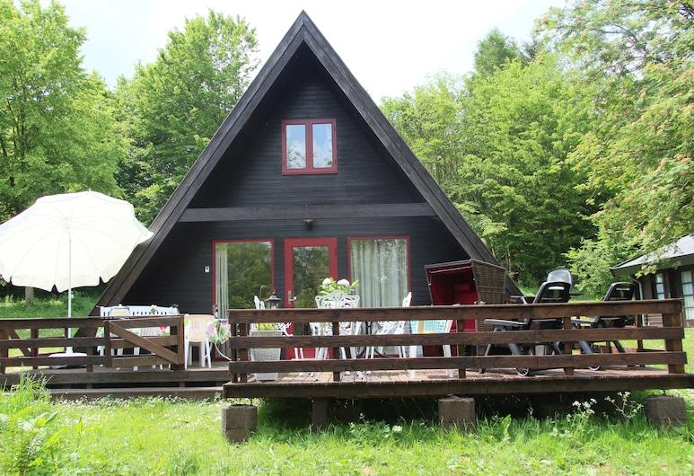 Feriehus i høyt tak i naturparken på Twistesee i en absolutt skogplass, Bad Arolsen