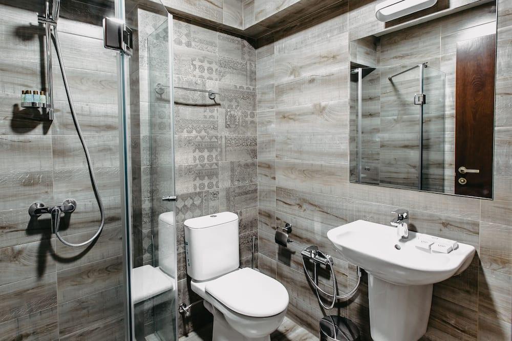 Phòng 2 giường đơn cơ bản, 2 giường đơn, Không hút thuốc, Quang cảnh thành phố - Phòng tắm