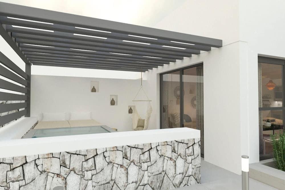 Apartment, Partial Sea View (Aelia 3) - Private spa tub