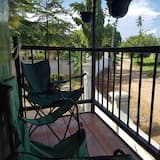 Premium boomhut, niet-roken, Uitzicht op de binnenplaats - Terras