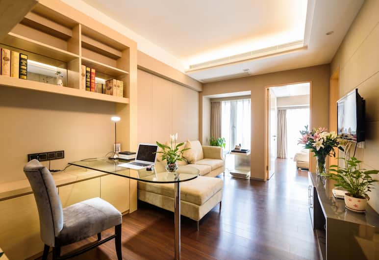 Lv Jia Apartment, Shenzhen, Deluxe Suite, Sea View, Living Room