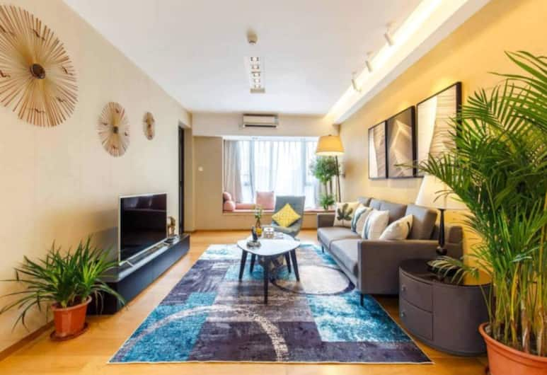 CBD Boutique Serviced Apartment, Guangzhou, Deluxe Suite, Ruang Tamu