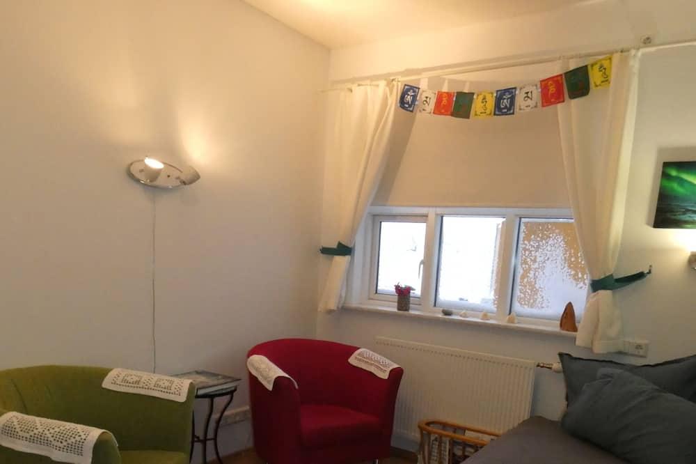 Apartmán, 3 ložnice, výhled na hory - Obývací pokoj