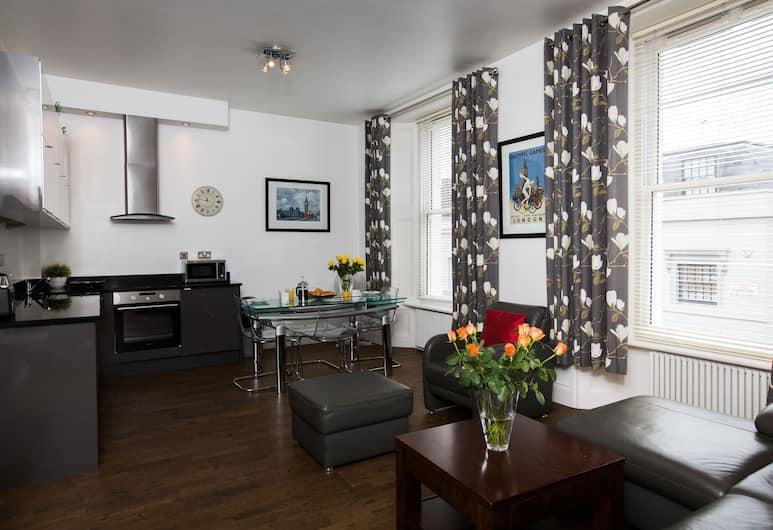 Chelsea Green Apartments, London, Standard külaliskorter, 2 magamistoaga, suitsetamine keelatud, vaade linnale, Lõõgastumisala