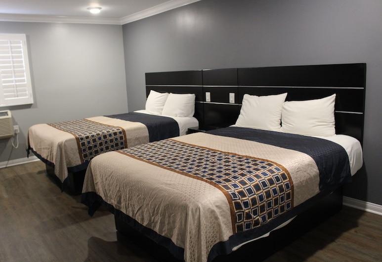 Budget Inn, Λος Άντζελες, Comfort Δωμάτιο, 2 Queen Κρεβάτια, Πρόσβαση για Άτομα με Αναπηρία, Θέα στην Πόλη, Δωμάτιο επισκεπτών