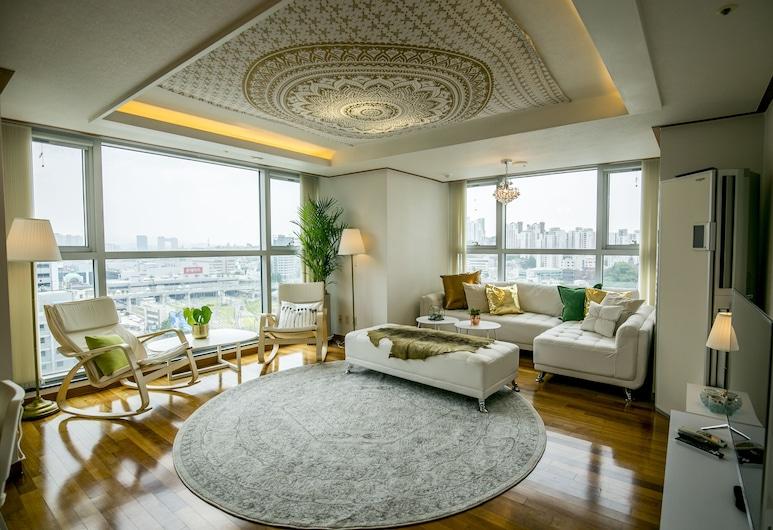 조이 하슬라  SJ, 서울특별시, 럭셔리 아파트 - 외국인 전용 (Superior Cozy Home), 거실