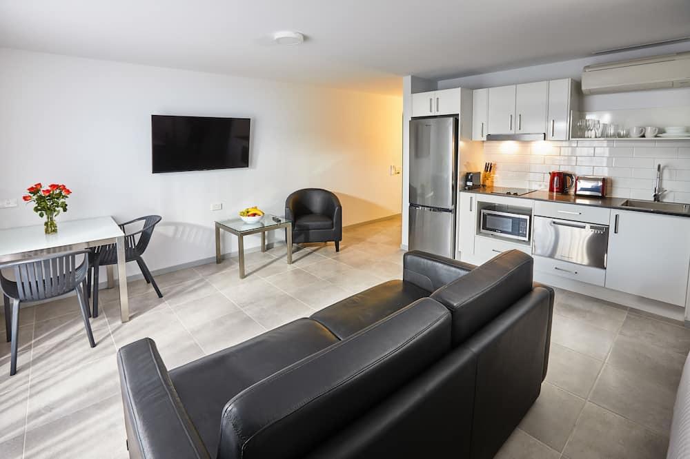 apartman, 1 hálószobával, konyha - Nappali rész