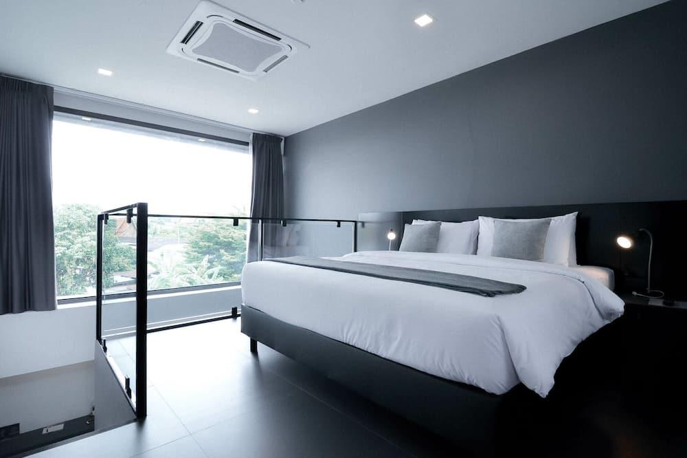 Dvojposchodový apartmán typu Signature, 1 extra veľké dvojlôžko, nefajčiarska izba, výhľad na hory - Hosťovská izba