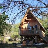 Honeymoon Kulübe, 2 Yatak Odası, Sigara İçilmez, Tepe Manzaralı - Teras/Veranda
