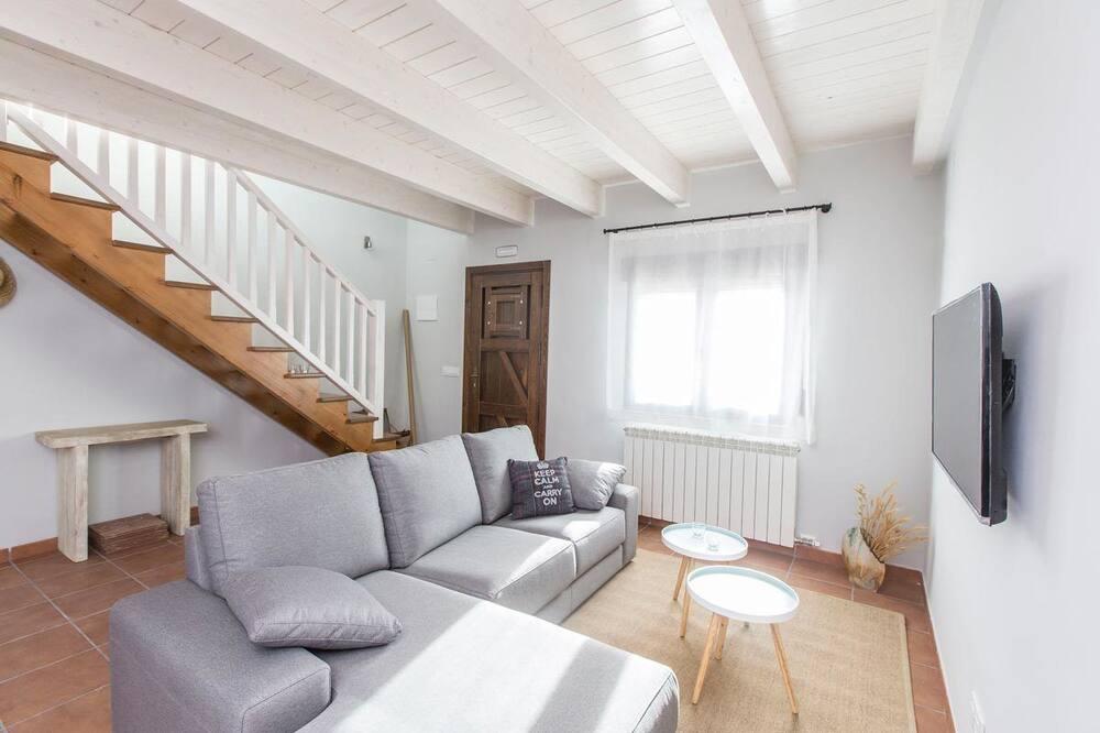 Hus - 4 soveværelser (4 - Two connecting apartments) - Opholdsområde