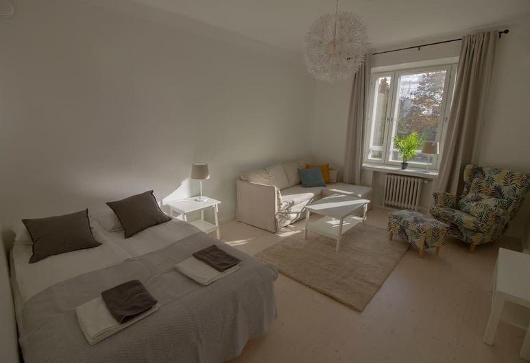 2ndhomes Lapinlahdenkatu, Helsingi, Deluxe külaliskorter, 1 magamistoaga, vaade siseõuele, Elutuba
