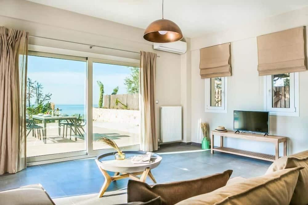 Villa - 2 sovrum - privat pool - havsutsikt - Vardagsrum