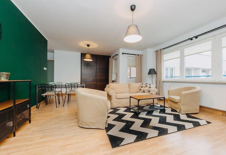ShortStayPoland Krochmalna (B39), Varsova, Comfort-huoneisto, Useita sänkyjä, Tupakointi kielletty, Näköala pihalle, Oleskelualue