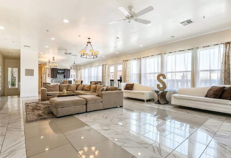 藝術與文化附近豪華公寓式客房酒店, 新奥爾良, 奢華頂層客房, 4 間臥室, 露台, 客廳