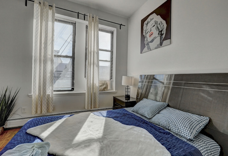 Modern Apartment minutes to NYC, Jersey City, Premium-Apartment, 1 Schlafzimmer, Zimmer